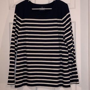 Talbots XL Blue/white  Striped casual Tunic